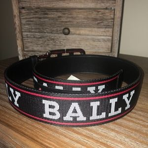 BALLY'S MENS MONOGRAM BELT with DUST BAG  and BOX